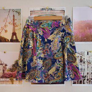 Louche Paisley Skater Skirt